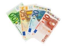 Euro billets de banque d'argent Photos stock