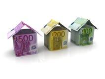 Euro billets de banque d'argent Photographie stock