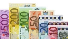 Euro billets de banque d'argent Photographie stock libre de droits