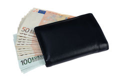 Euro billets de banque d'argent Photos libres de droits