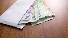 Euro billets de banque d'argent Billets de banque d'enveloppe en tant qu'élément du système de paiement du pays uni Euro devise d banque de vidéos