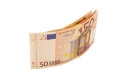 Euro billets de banque d'argent Euro 50 Photo stock