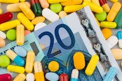Euro billets de banque et comprimés Images libres de droits