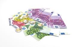 Euro billets de banque - monnaie légale de l'Union européenne Images stock