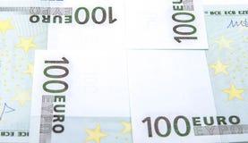 Euro billets de banque 100's Images libres de droits