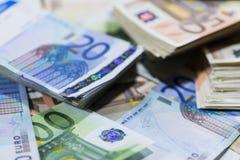 Euro billets de banque (tir en gros plan) Photo libre de droits