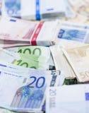 Euro billets de banque (tir en gros plan) Images libres de droits