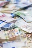 Euro billets de banque (tir en gros plan) Photos stock