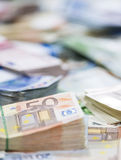 Euro billets de banque (tir en gros plan) Images stock