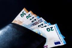 Euro billets de banque de valeur d'argent, système de paiement d'Union européenne image stock