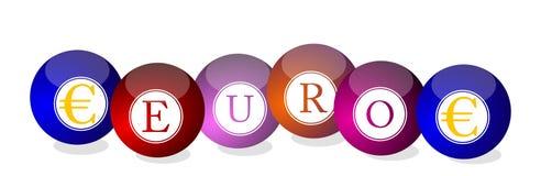Euro - billiard balls Stock Image