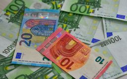 Euro billnote EUR royalty free stock photo