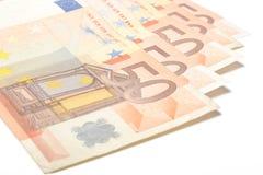 Euro bills Stock Image