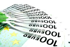 Euro bills Stock Images