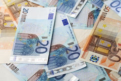 Euro bills. 20 and 50 euro bills Stock Images