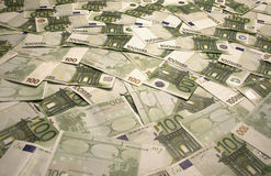 Euro Bills. A Background of Euro bills royalty free stock photo