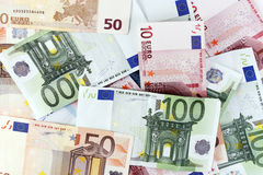 Euro bills Stock Photo