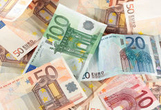 Euro bills Stock Images