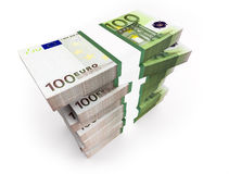 Euro bills. 3d. 3d illustration on white isolated Stock Photos