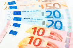 10 20 and 50 euro Stock Photos