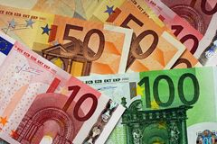 Euro bills Stock Photography