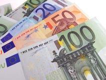 Euro bills. Over white background Stock Photos