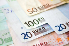 Euro bills. Close up. Euro concept background Stock Photo