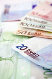 Euro bills. Close up. Euro concept background Royalty Free Stock Images