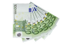 Euro bills Royalty Free Stock Photos