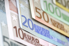 Euro bills background Stock Photography