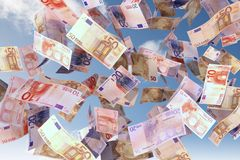 Euro bills close up Stock Images