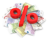 The euro bills Royalty Free Stock Image