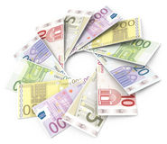 The euro bills Stock Images