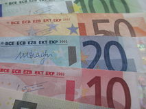Euro bills Stock Image