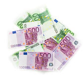 Euro bills  euro banknotes money. European Union Currency Stock Photography