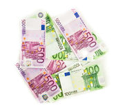 Euro bills  euro banknotes money. European Union Currency Royalty Free Stock Photography