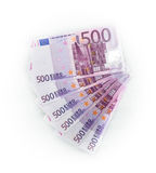 500 euro bills  euro banknotes money. European Union Currency Royalty Free Stock Photo