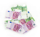 Euro bills  euro banknotes money. European Union Currency. Objects finance business concept Royalty Free Stock Photos