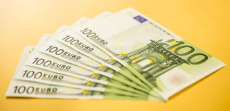 100 euro bills Royalty Free Stock Photo