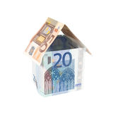 Euro bills house Stock Photography
