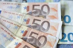Euro  Bills , Money Stock Image