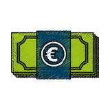 Euro bills money isolated icon Stock Image