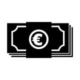 Euro bills money isolated icon Royalty Free Stock Images