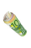 Euro bills rolled Royalty Free Stock Photography
