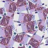 500 Euro bills seamless. Seamless texture of stylized five hundred euro notes. Vector illustration Stock Image