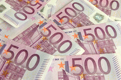 500 Euro bills Royalty Free Stock Image