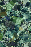 Euro Bills X-Ray Royalty Free Stock Photo
