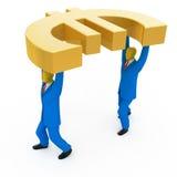 euro biznesmena mienie Zdjęcie Royalty Free