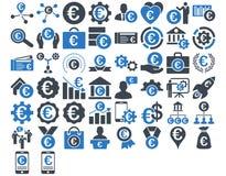Euro Biznesowe ikony Zdjęcie Stock