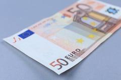 euro blanc d'argent de fond Images libres de droits
